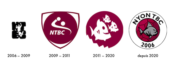 Evolution du logo du NTBC